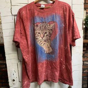 The Mountain brand cat lover tie dye 3X t-shirt